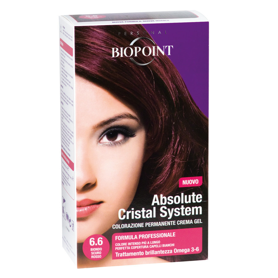 <br />Biopoint Absolute Cristal System Biondo Scuro Rosso