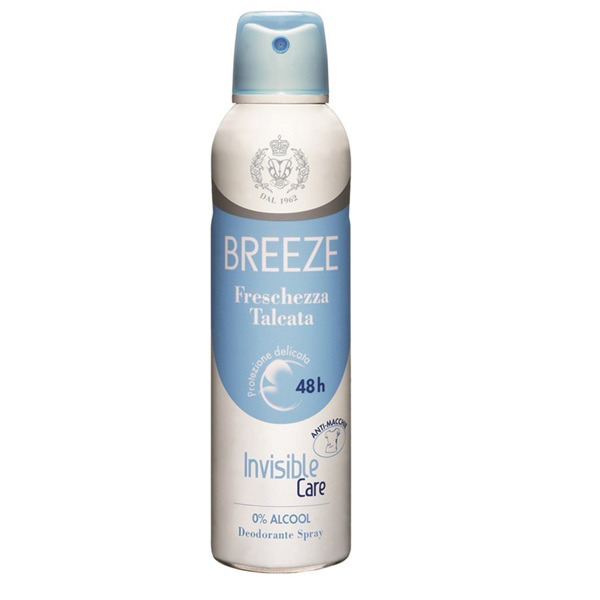 <br />Breeze Deodorante Spray Invisible Care Freschezza Talcata 100 ml spray