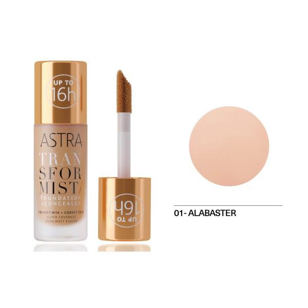 Astra Transformist Foundation + Concealer n. 01 alabaster