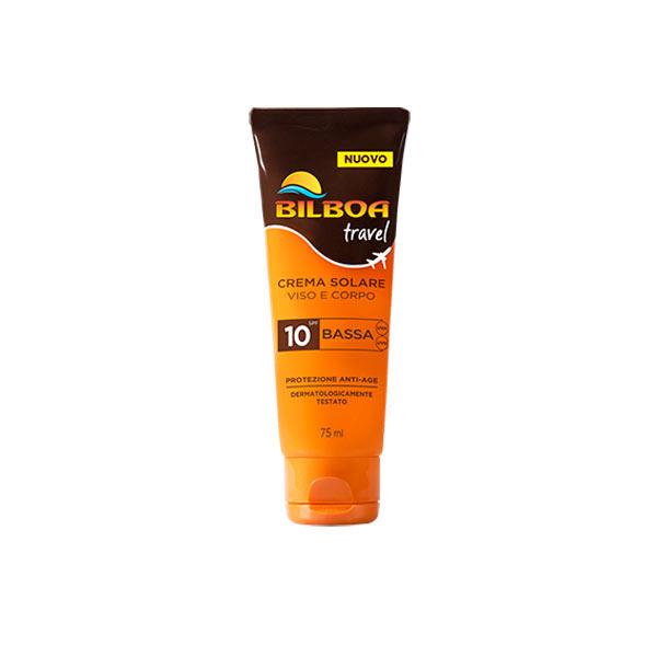 Bilboa Travel Crema Solare SPF 10 Viso e Corpo 75 ml