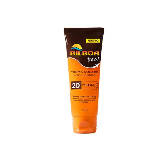 Bilboa Travel Crema Solare SPF 20 Viso e Corpo 75 ml