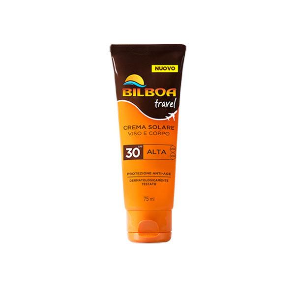 Bilboa Travel Crema Solare SPF 30 Viso e Corpo 75 ml