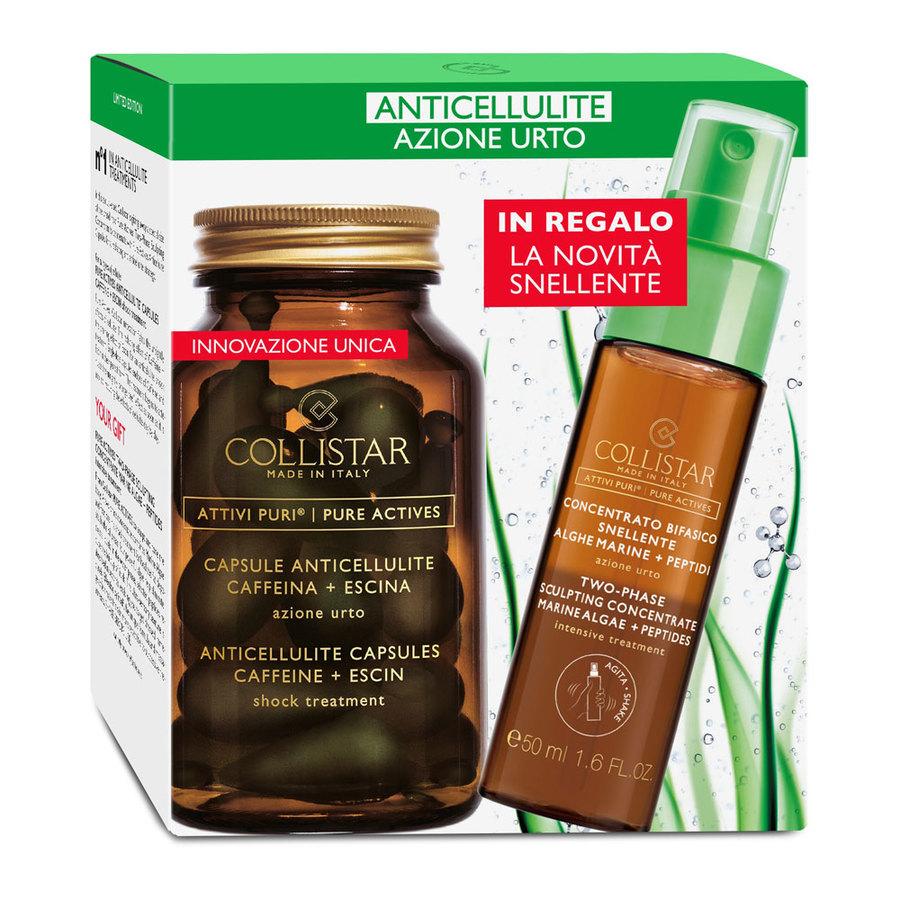 Cofanetto Collistar Capsule Anticellulite Caffeina + Escina Azione Urto + IN REGALO Attivi Puri Concentrato Bifasico Snellente 50 ML