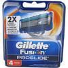 Gillette Fusion Proglide 5 Lame -  4 Testine di Ricambio