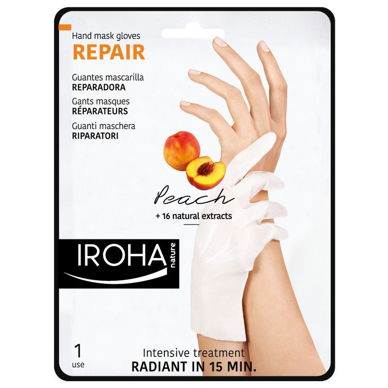 Iroha Nature Repair Peach Hand Mask Gloves 1 use