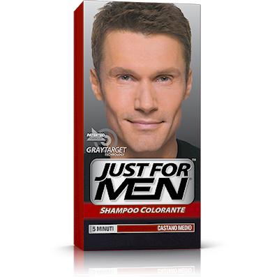 Just for Men Shampoo Colorante castano medio