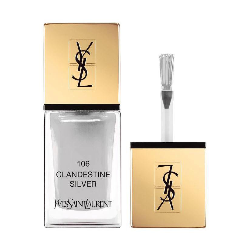 Yves Saint Laurent La Laque Couture n. 106 clandestine silver